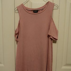 Off the shoulder tee - Medium - Mauve